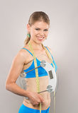 Donna che allenta peso Immagini Stock