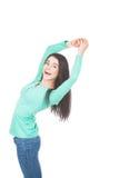 Donna che allunga sulle mani Immagini Stock Libere da Diritti