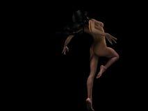 Donna che balla nudo Fotografia Stock Libera da Diritti