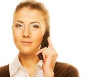 Donna che chiama dal telefono Immagine Stock Libera da Diritti