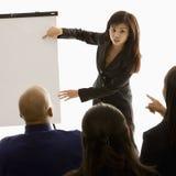 Donna che dà presentazione Immagine Stock