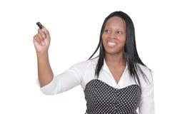 Donna che dà una presentazione Fotografia Stock Libera da Diritti