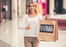 Donna che fa acquisto Immagine Stock