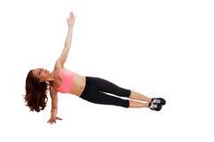 Donna che fa allenamento della gamba Immagine Stock Libera da Diritti