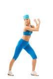 Donna che fa esercitazione di forma fisica Fotografie Stock
