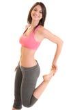 Donna che fa esercizio di forma fisica Fotografie Stock