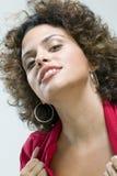 Donna che fa espressione sensuale Immagine Stock