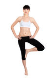 Donna che fa le esercitazioni di forma fisica Immagini Stock Libere da Diritti