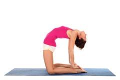 Donna che fa yoga Immagine Stock