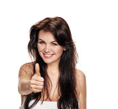 Donna che gesturing come immagini stock
