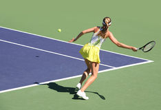 Donna che gioca tennis Immagine Stock