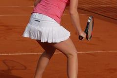 Donna che gioca tennis Fotografia Stock Libera da Diritti