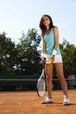 Donna che gioca tennis Immagine Stock Libera da Diritti