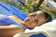 Donna che gode delle vacanze Immagine Stock Libera da Diritti