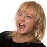 Donna che grida immagine stock libera da diritti