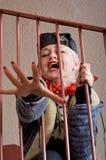 Donna che grida per la guida Fotografie Stock Libere da Diritti