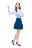 Donna che indica in su Immagine Stock Libera da Diritti