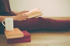 Donna che legge il libro Immagine Stock Libera da Diritti