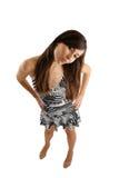 Donna che mostra interesse, prospettiva personale Fotografia Stock