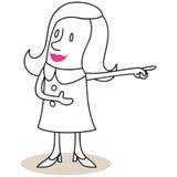Donna che mostra le direzioni illustrazione vettoriale