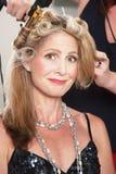Donna che ottiene capelli fatti fotografie stock