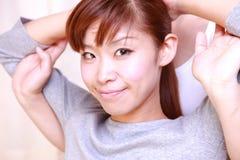 Donna che ottiene massaggio tailandese Immagine Stock