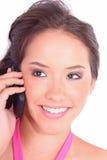 Donna che per mezzo del telefono mobile delle cellule Immagine Stock Libera da Diritti