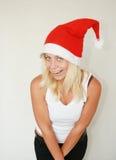 Donna che porta il cappello della Santa Immagini Stock