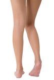 Donna che posa la sua bella gamba lunga sana Fotografie Stock Libere da Diritti