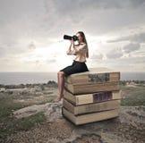 Donna che prende le immagini Fotografia Stock Libera da Diritti
