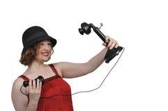 Donna che prende un selfie Immagini Stock Libere da Diritti