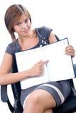 Donna che presenta progetto Fotografia Stock Libera da Diritti
