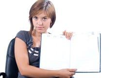 Donna che presenta progetto Immagini Stock Libere da Diritti
