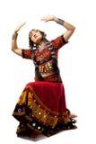 Donna che propone in costume indiano tradizionale fotografia stock libera da diritti