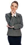 Donna che prova a prendere un decisicion Immagine Stock Libera da Diritti