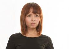 Donna che sembra turbata Immagine Stock Libera da Diritti