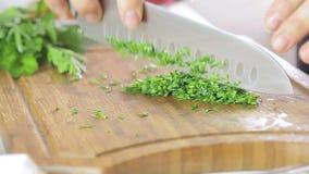 Donna che taglia le erbe video d archivio