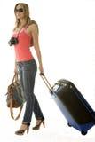 Donna che va sulla vacanza Fotografia Stock