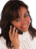 Donna chiamare sorridente Immagini Stock Libere da Diritti