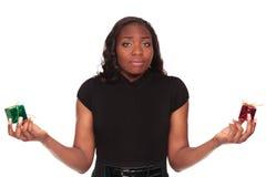 Donna choice dell'afroamericano di natale Fotografia Stock