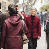 Donna cinese anziana Immagine Stock