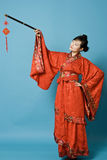 Donna cinese di dinastia di Han Immagine Stock
