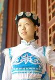 Donna cinese di Naxi Fotografia Stock Libera da Diritti