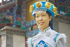 Donna cinese di Naxi Immagine Stock