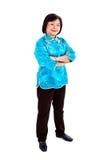 Donna cinese sicura che sorride, ente completo Immagini Stock Libere da Diritti