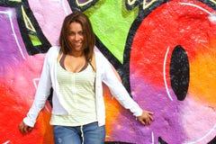 Donna colombiana Immagini Stock