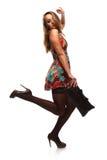 Donna a colori il vestito Fotografie Stock