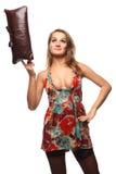 Donna a colori il vestito Immagine Stock