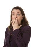 Donna colpita Fotografia Stock Libera da Diritti