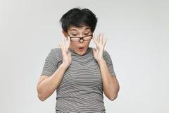 Donna colpita Fotografie Stock Libere da Diritti